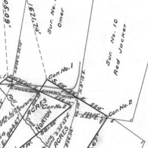 Click this thumbnail for a full view of 21.667 acre claim of Cornucopia Mine Company Of New York known as the Dunn And Norton Group located in the Portland Mining District of Baker County, Oregon.