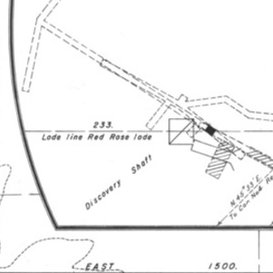 Click this thumbnail for a full view of Claim of Dark Canyon Mining Company known as the Yellow Rose, Wild Rose, Red Rose, White Rose, Primrose, Wild Cat, Pink Rose Lodes located in the Lower Applegate Mining District of Josephine County, Oregon.