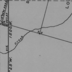Click this thumbnail for a full view of Claim of Rocky Gulch Mining Company known as the Barbara, Blue Bird, Canary, Dove, Gold Finch, Grouse, Humming Bird, Joker, Lost Buck, Mansfield, Marsh Wren, Oriole, Robin And Silver Schist Lodes located in Josephine County, Oregon.