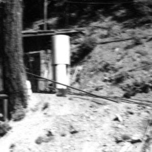 Click this thumbnail for a full view of Compressor house and ore tract at the Kirkpatrick drift mine.