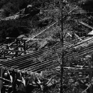 Click this thumbnail for a full view of Mill under construction at Columbo lode mine.